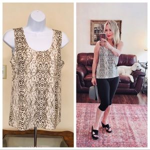 CHICOS TRAVELERS snakeskin tank top
